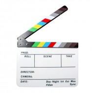 Colored Acrylic Clapper Board Slate