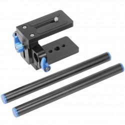 Neewer Universal Aluminum 15mm Rail Rod Support System High Riser DSLR Camera Mount