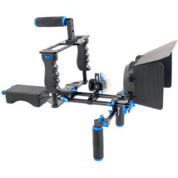 YELANGU D221 Shoulder Rig with Camera Cage and Follow Focus