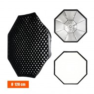 Godox 120cm Bowens mount Grid softbox for strobe