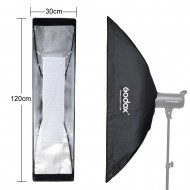 Godox 30x120 cm Bowens Mount Grid Strip softbox for Strobe