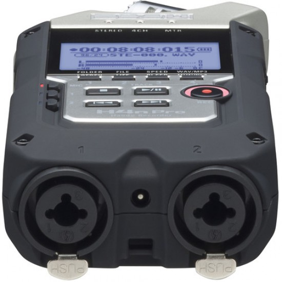 Zoom H4n Pro 4-Track Handy Portable Recorder with Onboard Stereo Mic and Built-In Speaker