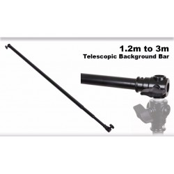 3m Aluminium Alloy Telescopic Crossbar with bold adapter for background support stands