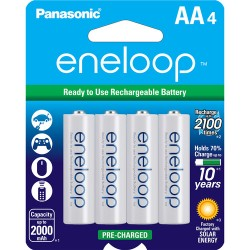 Panasonic eneloop AA Ni-MH Pre-Charged Rechargeable Batteries (4 Pack)
