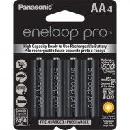 Panasonic Eneloop pro AA Pre-Charged Rechargeable Ni-MH Batteries (2550mAh, Pack of 4)