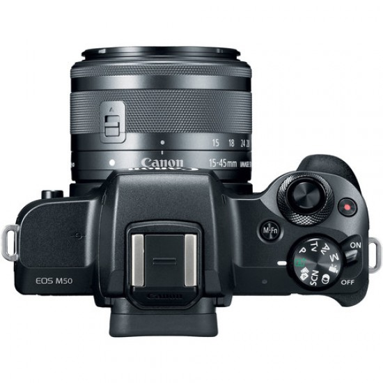 Canon EOS M50 Digital Mirrorless Camera with 15-45 mm STM Lens (Black)