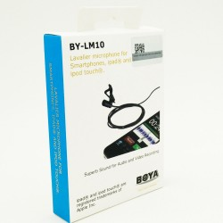 BOYA BY-LM10 Lavalier Lapel Clip-on Omnidirectional Condenser Microphone for Smartphones