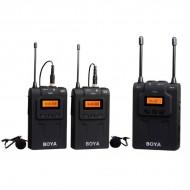 BOYA BY-WM8 Dual-Channel Wireless Lavalier Microphone Kit