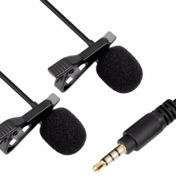 BOYA BY-LM400 Professional Clip-on Dual Omnidirectional Lavalier Mic for Smartphones