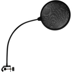 Microphone Pop Filter with Gooseneck and C-Style Clamp