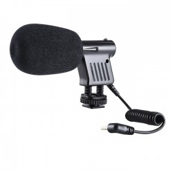 BOYA BY-VM01 Low Noise Directional Condenser Microphone with Shock Mount
