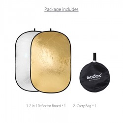 """Godox 120x180cm (47""""x71"""") 2 in 1 Collapsible Light Reflector (Gold & Silver)"""