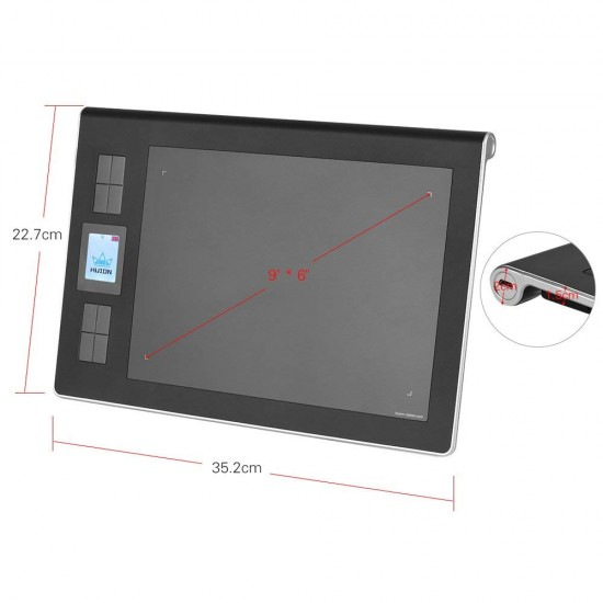 HUION DWH69 Portable Wireless Graphics Tablet