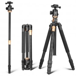 QZSD Q999H Professional Horizontal Arm Photography Tripod + Monopod with Ball Head
