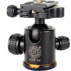 QZSD Q02 Camera Photography Tripod Head with Swivel Ball and Quick Release Plate