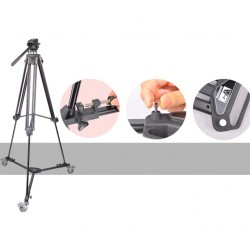 Weifeng WT-600 Professional Video Camera Camcorder Foldable Tripod Dolly