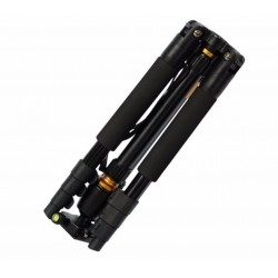 QZSD Q555 Aluminum Alloy Travel Tripod+Monopod with Ball Head and Quick Release Plate