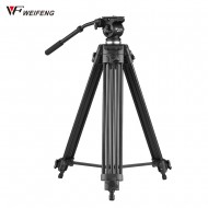 Weifeng WF-717 1.8m Heavy Duty Video Tripod with Fluid Hydraulic Head